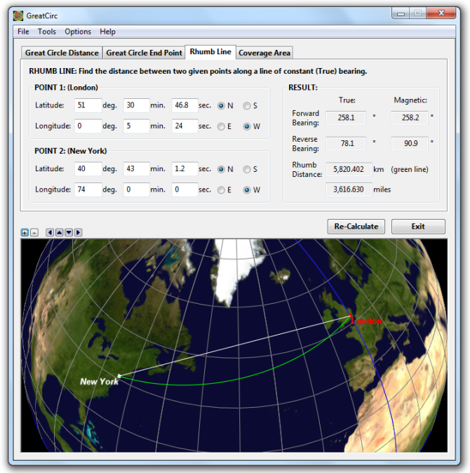 Gunamoi software greatcirc main features view the world map in mercator projection or globe view requires directx gumiabroncs Images