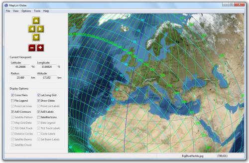 Gunamoi software maplist globe azimuth and elevation angles gumiabroncs Images